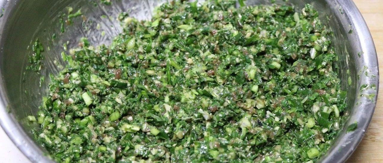 胶东吃荠菜正是时候,看荠菜馅饺子的制作过程