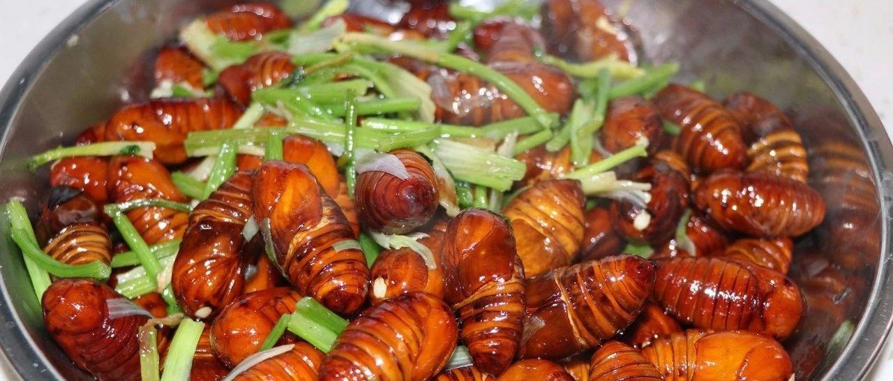 """组图:""""炒蛹"""",胶东人过年期间常吃的一道菜"""