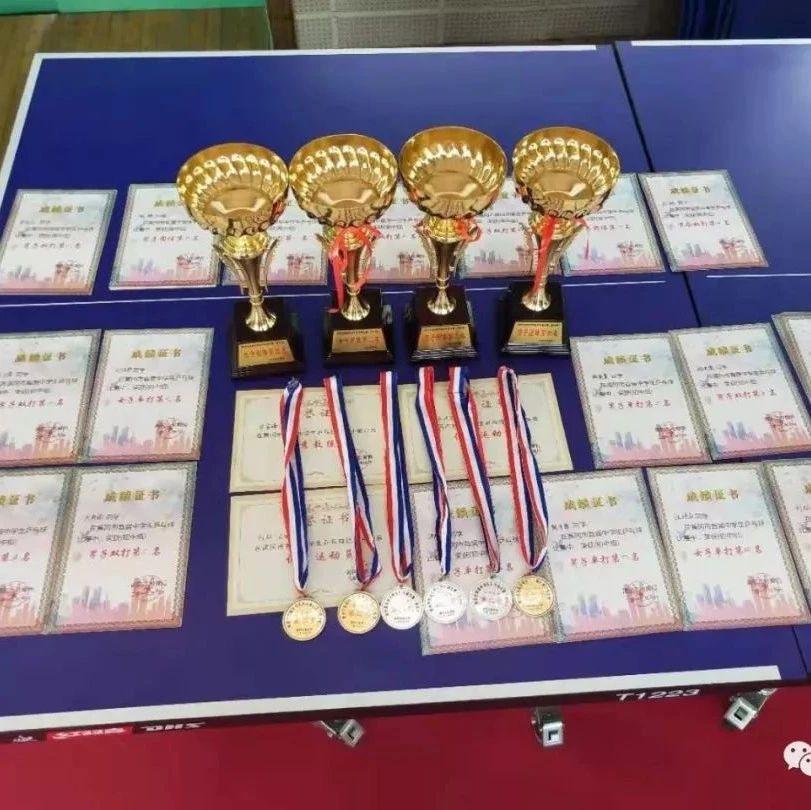 黄冈市首届中学生乒乓球比赛:武穴总成绩名列第二!