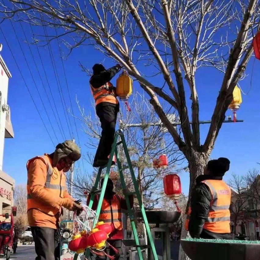 【本地】瓜州:大红灯笼高高挂大街小巷年味浓