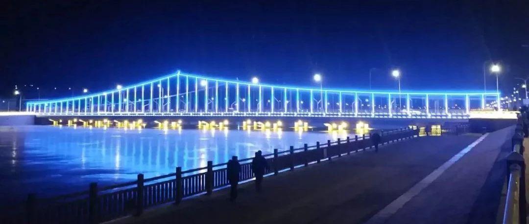 震撼!昨晚建平一号桥和二号桥都被灯光照亮了!你去看了吗?
