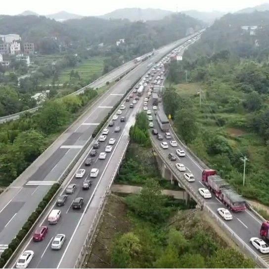 ?紧急扩散!大广高速赣州段返程高峰提前!一天10万辆次!