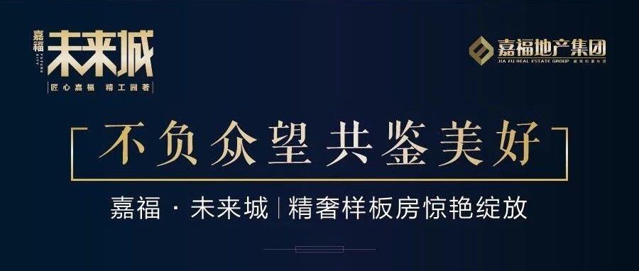 不负众望,共鉴美好|嘉福·未来城精奢样板房惊艳绽放!