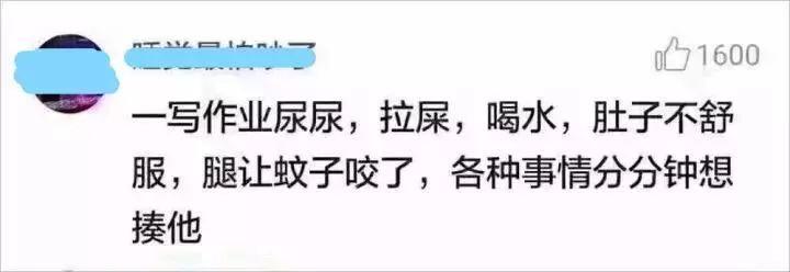 第一批80后已经被00后气死!不写作业母慈子孝,一写作业鸡飞狗跳!