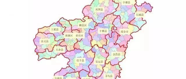 赣州18县市区高清地图集!