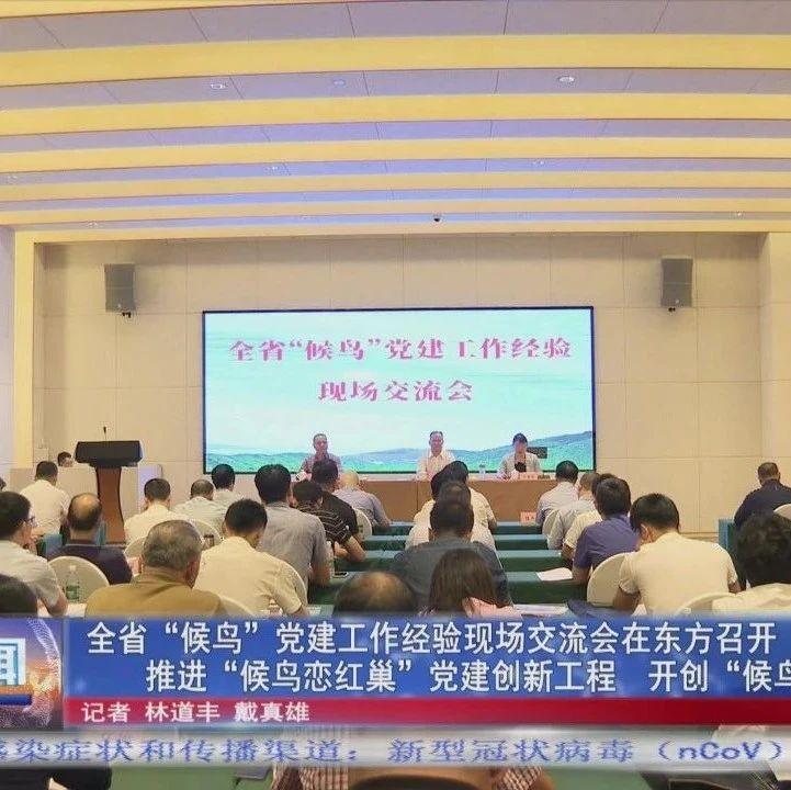 """全省""""候鸟""""党建工作经验现场交流会在东方召开"""