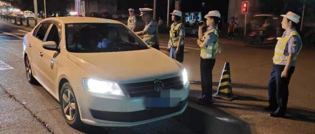 """昨晚,5名""""脸红司机""""被蓬溪交警查处!"""
