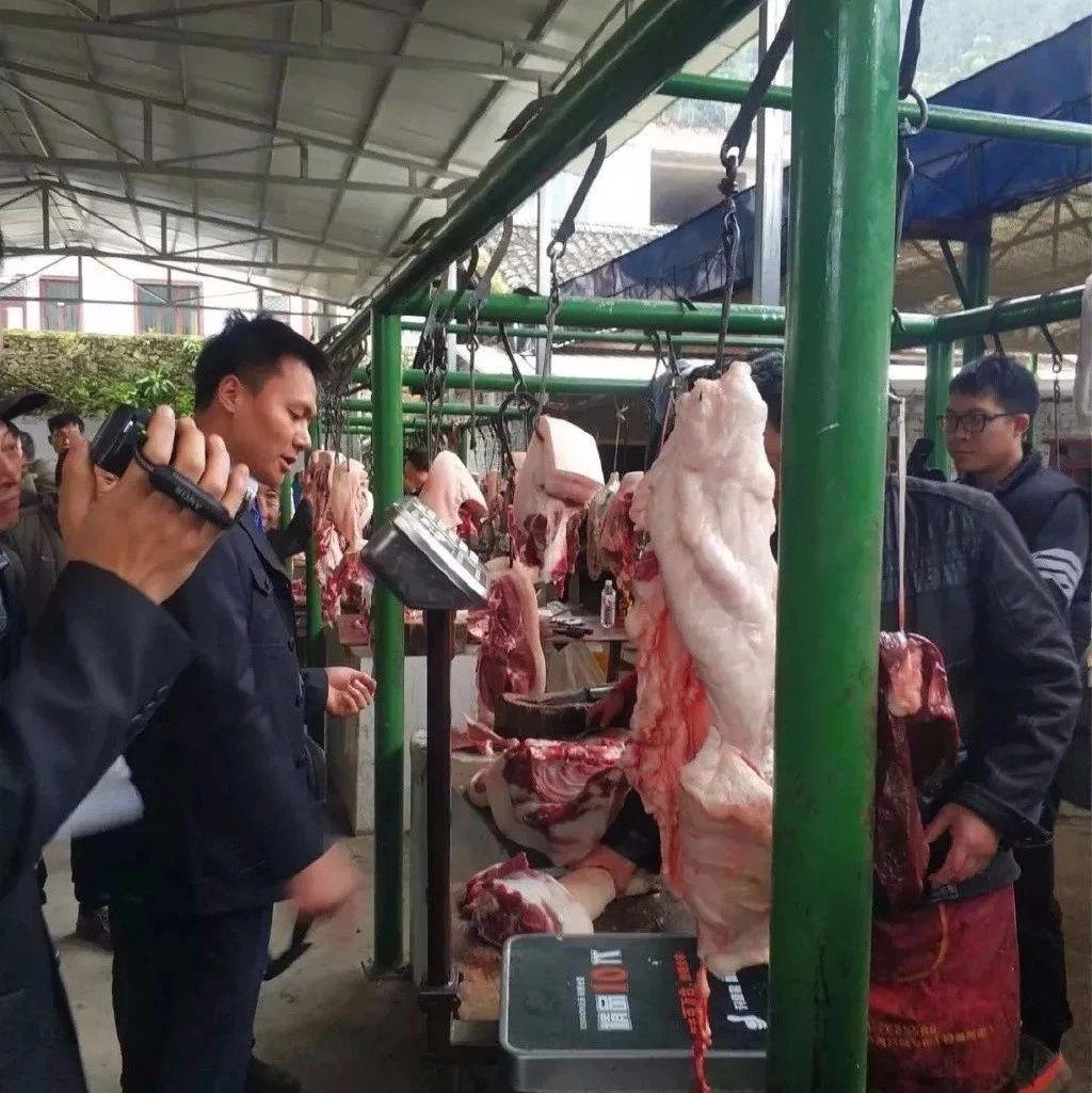 宜宾一农贸市场1000多斤猪肉被全部查封,吃的害!