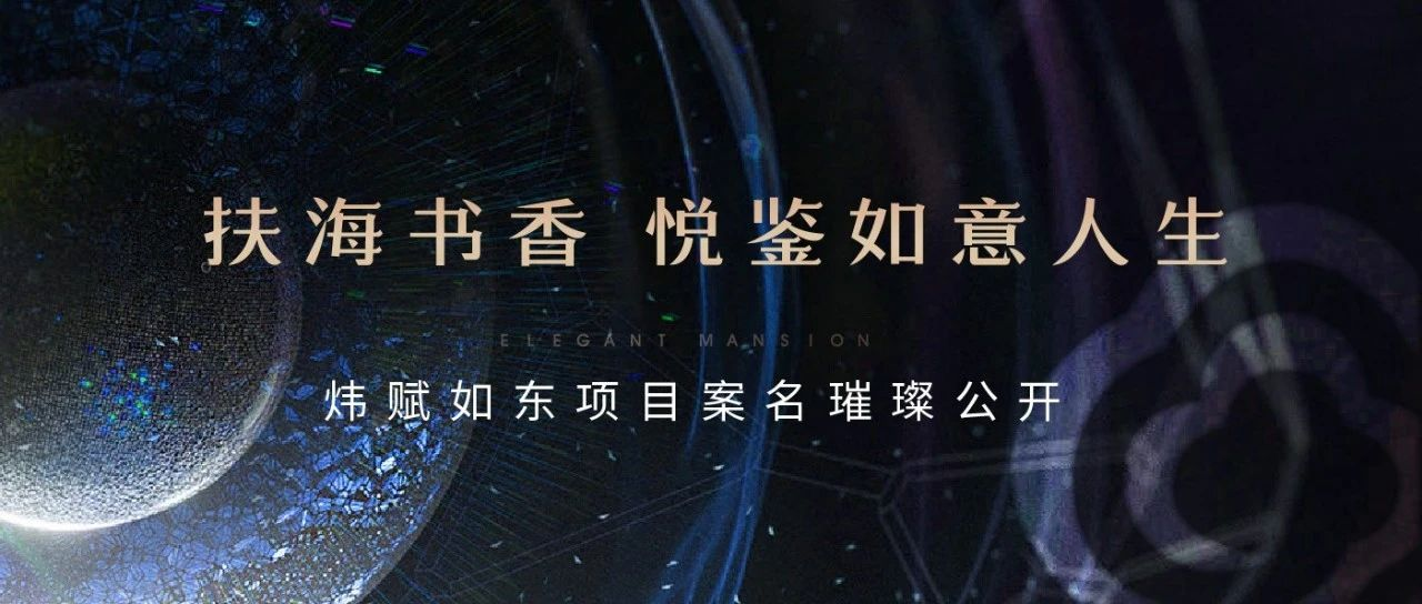 扶海书香悦鉴如意人生 炜赋如东项目案名璀璨公开!