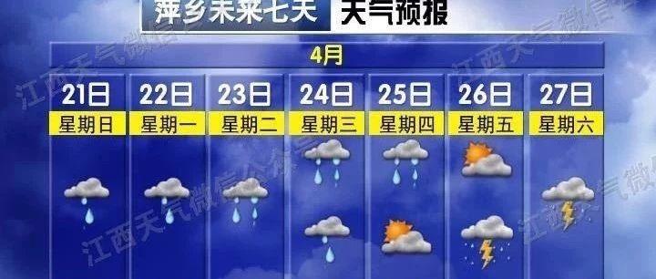 """撑住!萍乡天气又要""""作""""了!雨要连下半个月?更崩溃的是五一天气..."""