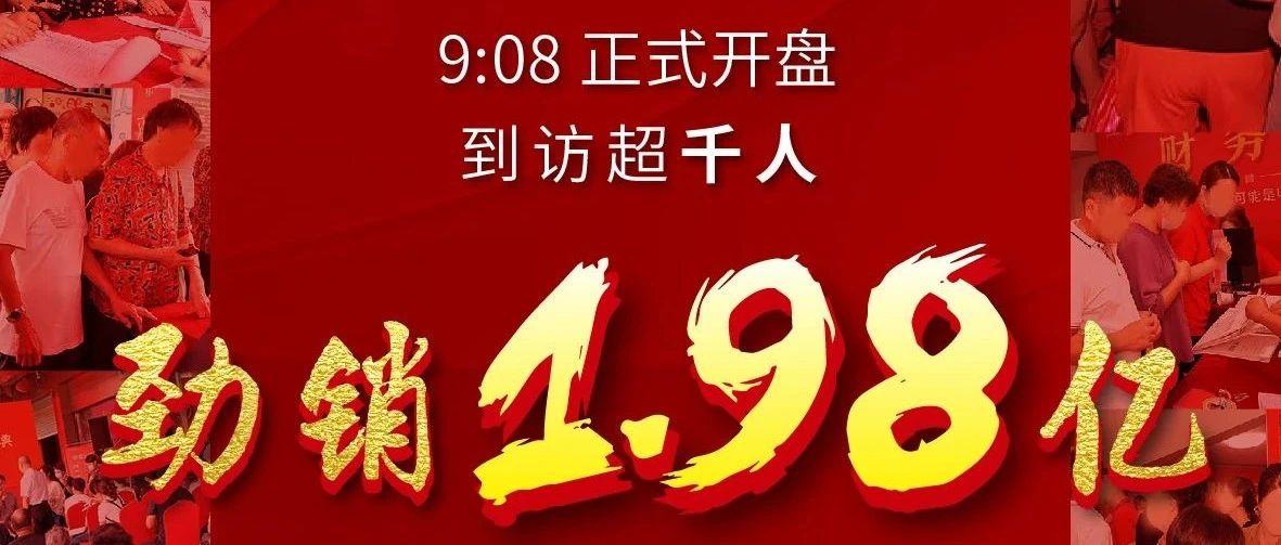 碧湖红盘燃动全城|首开千人到访,仅2小时狂揽1.98亿!
