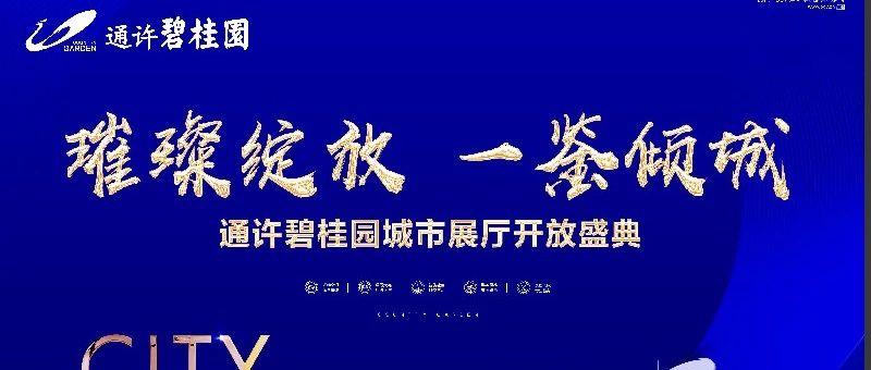 通许碧桂园展厅开放盛典,圆满落幕,全城瞩目!