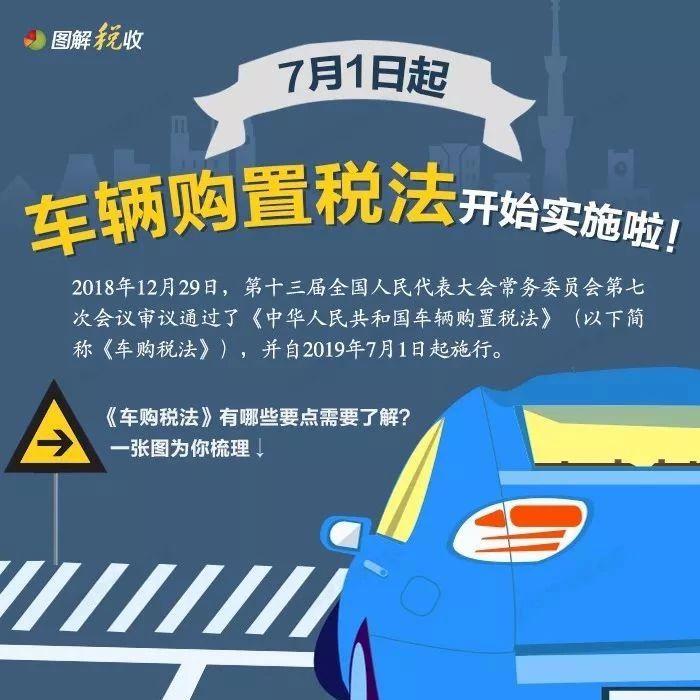 港区人注意!车辆购置税本月开始实施!哪些车免税?点进来看→
