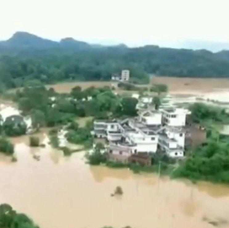 实拍于都县罗江县洋坑村受灾情况