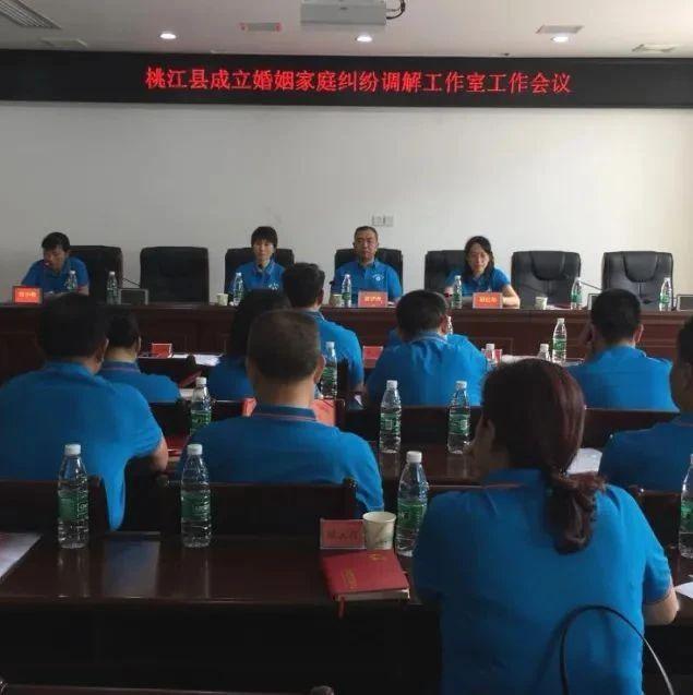 桃江县首个婚姻家庭纠纷调解工作室成立