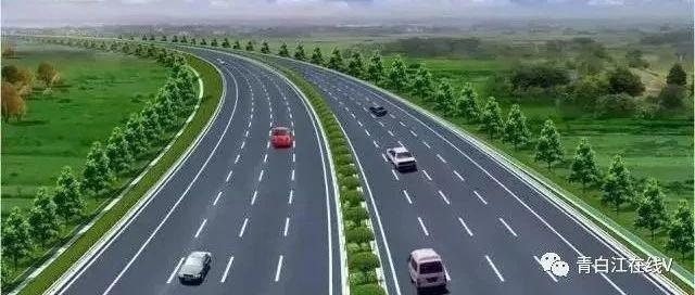 成绵高速复线青白江段――成金青快速路上全线设置高架桥