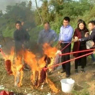 吴川这批非法烟草专卖品,被一把火烧光...