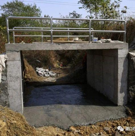 点赞!湖口这家单位帮贫困村修建下港桥!