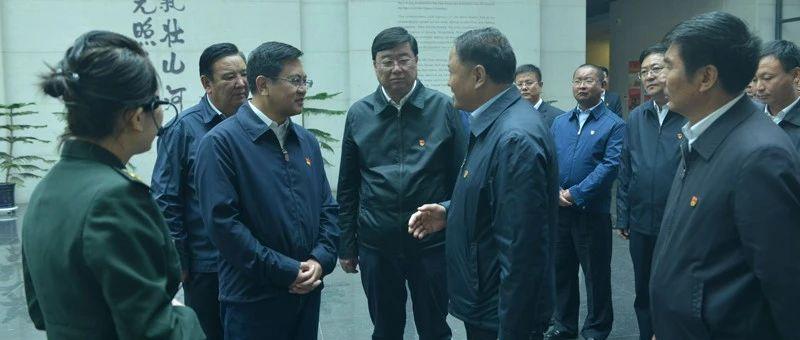 阿右旗处级领导干部在中国工农红军西路军纪念馆接受革命传统教育