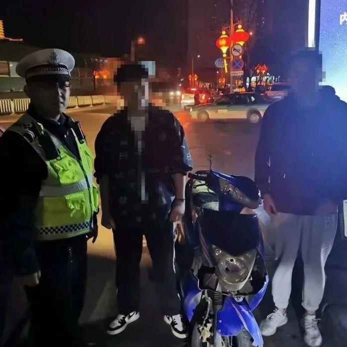 """府谷交警集中整治未成年人飙车,""""炸街摩托""""驾驶者最小不满15周岁!"""