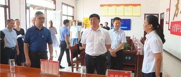 宝丰县委书记许红兵深入到大营镇和观音堂林站调研指导基层党建工作
