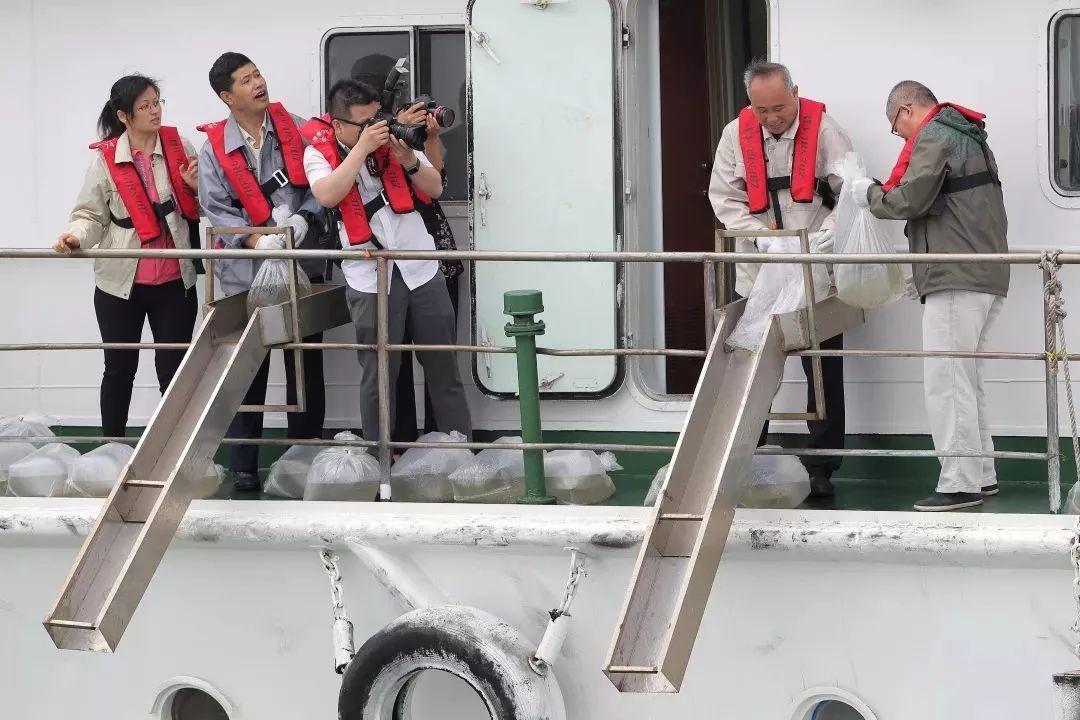 南港海域增殖放流4000万尾对虾