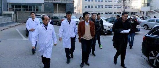�^�l生健康委李�L春主任到天津市第五中心�t院督���文工作