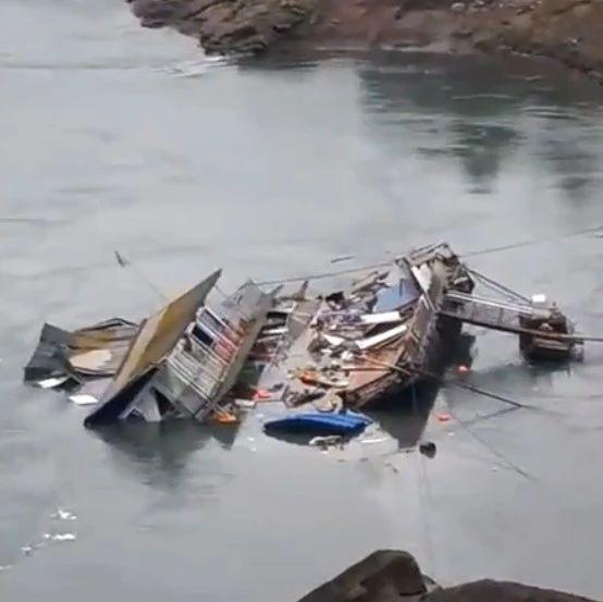 突发!宜宾一大船船身倾斜,沉入金沙江江底!现场视频曝光…