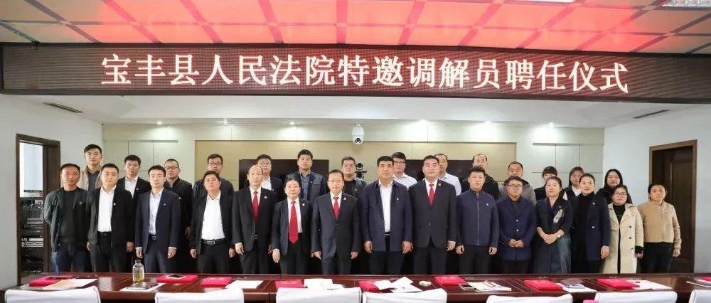 宝丰县法院举行首批特邀调解员聘任仪式