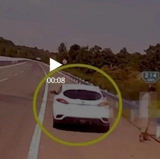 他就这么停在这儿,然而视频车是大货车……
