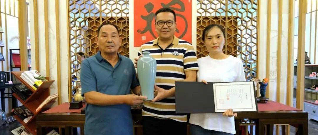 太极禅苑收藏朱文立作品:汝窑天青釉梅瓶