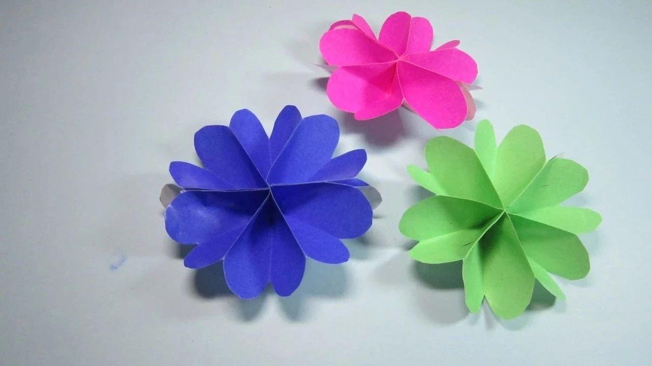 【折�大全】一�W就��的花朵折�,一���折出漂亮的�b�花