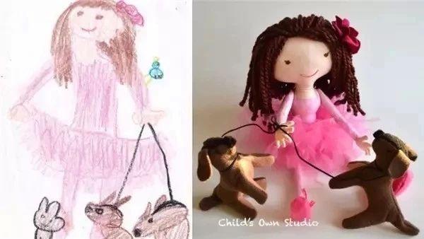 熊孩子的抽象涂鸦竟被她做成可爱玩偶,还火遍了世界,用爱去守护孩子的想象力!