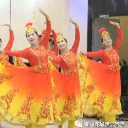 新疆麦西来甫|舞姿翩翩的女子集体舞,漂亮!