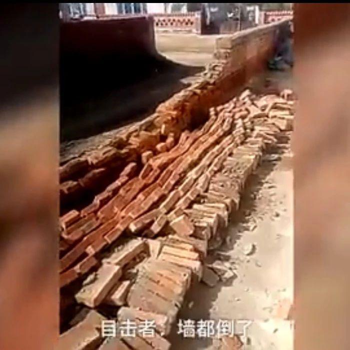 实拍:松原4.5级地震瞬间,吓skr人了!墙都倒了!