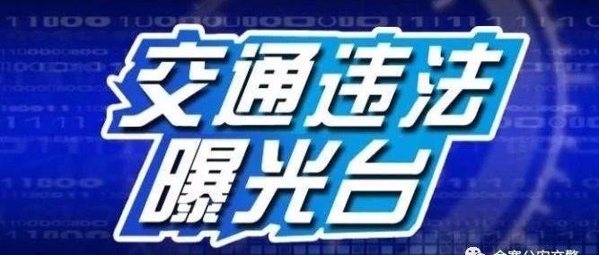 交通违法曝光台第10期