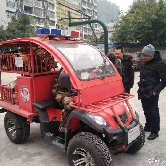 冬季消防安全培训进社区为夹江消防打call