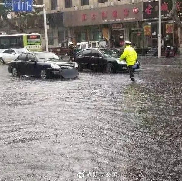 今天,即墨部分路段积水严重!这里降雨量最大!
