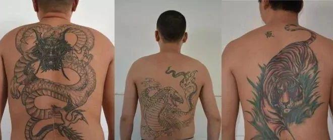 害群之马终被抓!六安该县这群纹身男栽了,纹身图案奇幻惊悚……
