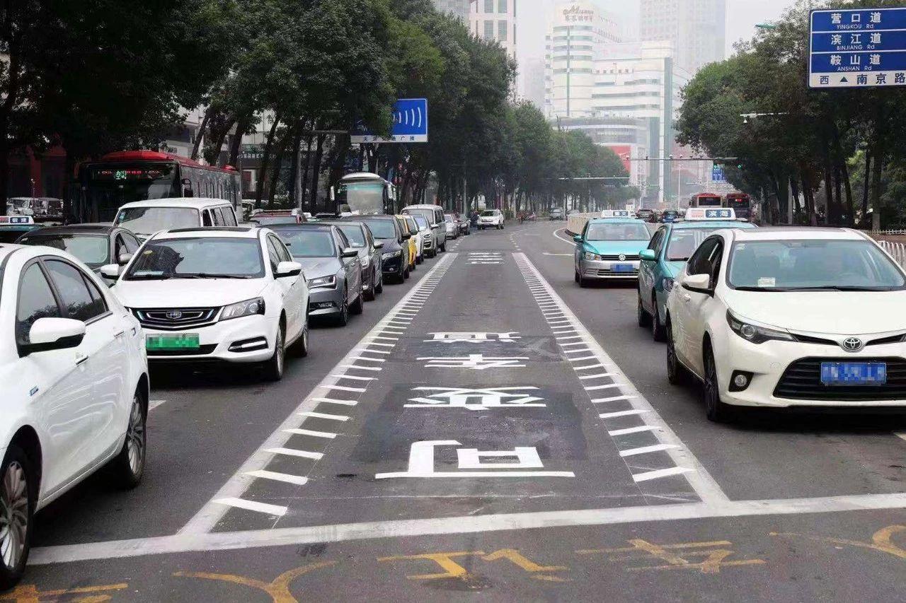 """天津市区首条""""可变车道""""启用!"""