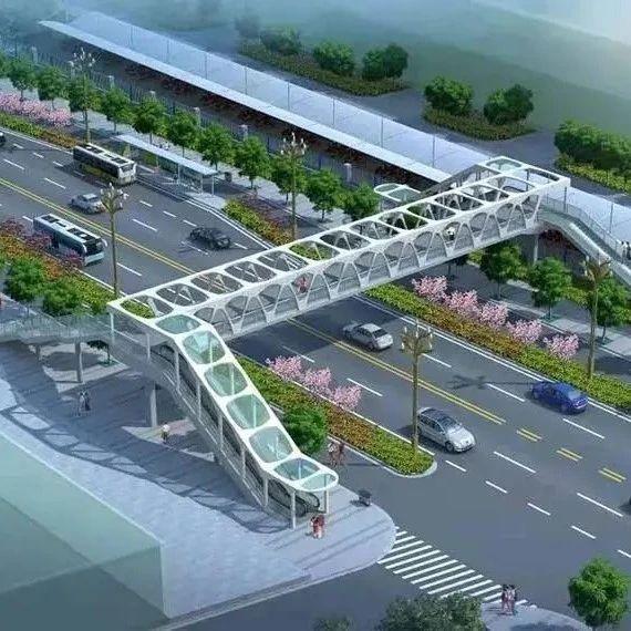 全长45米天水又一座自动扶梯式人行天桥正在加紧建设