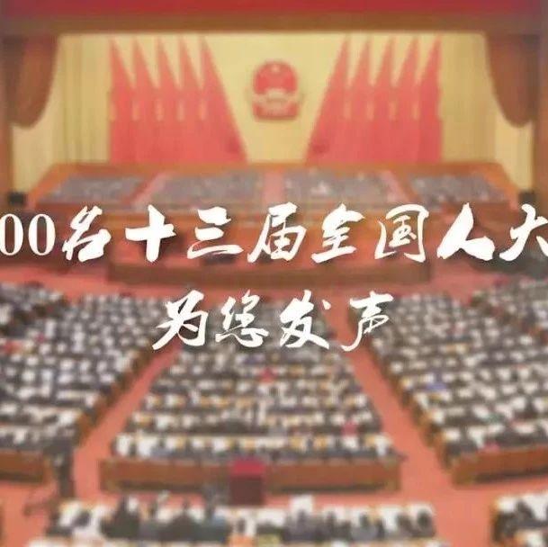 北京,近3000名十三届全国人大代表,为你发声↓