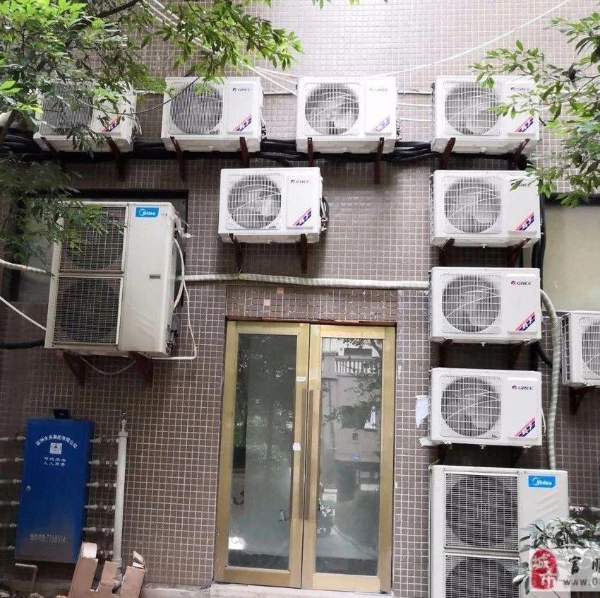 遭不住!富顺这里的住户被14台空调外机包围!让人抓狂