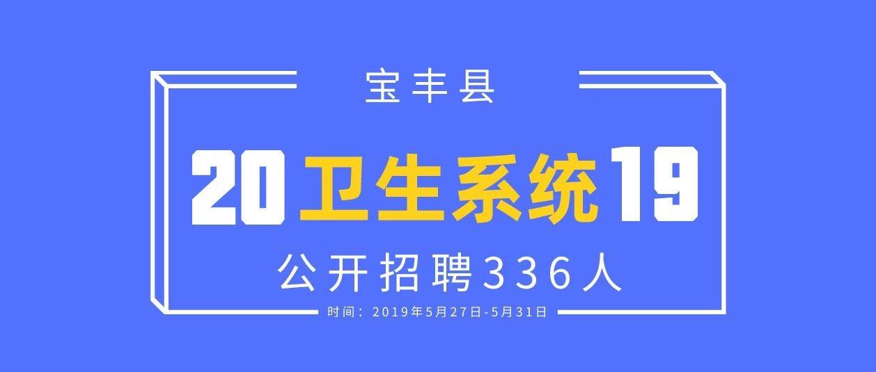宝丰县2019年公开招聘医疗卫生单位专?#23548;际?#20154;员(人事代理)公告