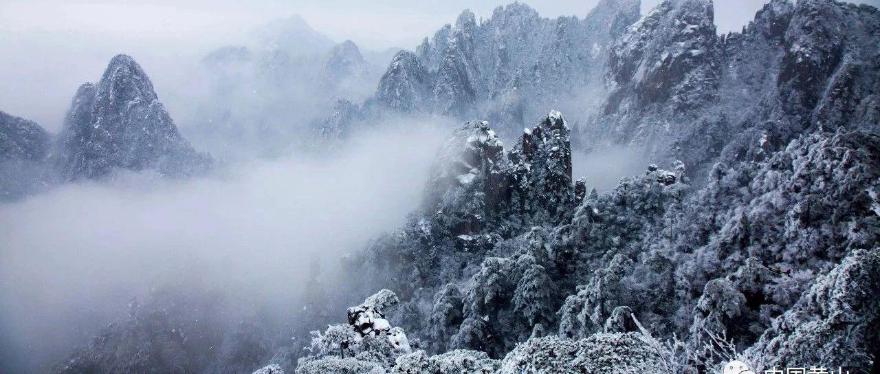 黄山风景区大雪持续,雪景绝美!
