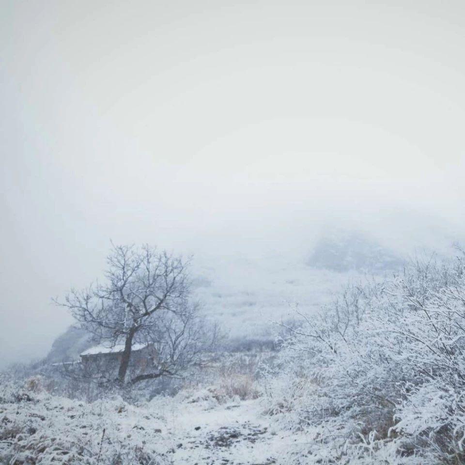 门头沟今天的雪不小!