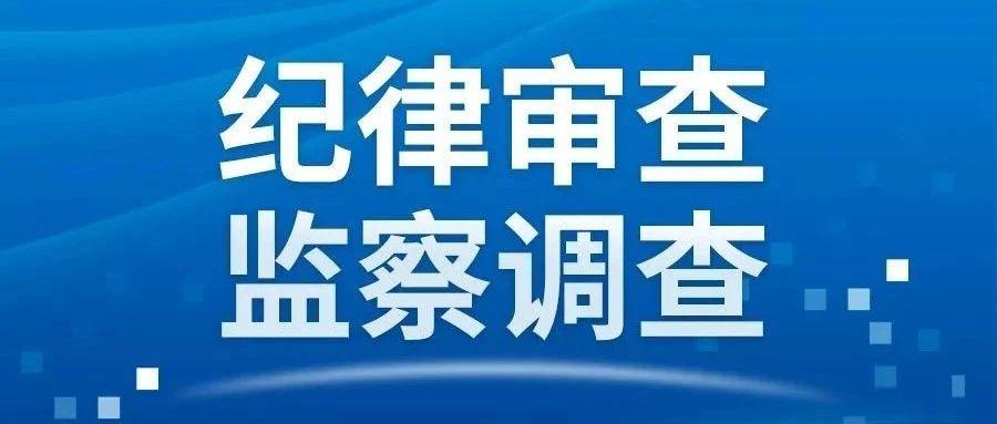 汝州市温泉镇政府工作人员程怀阳接受纪律审查和监察调查