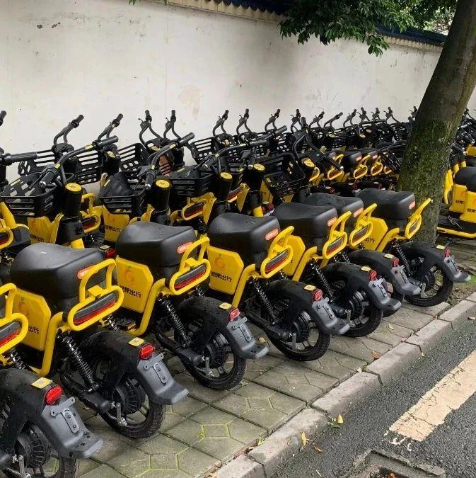 """夹江街上""""大黄""""共享车大量减少?原因原来是…"""