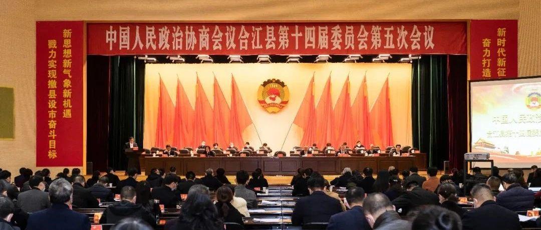 政协合江县十四届五次会议开幕丨开启十四五,乘势而上再出发