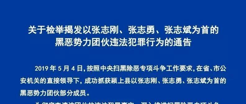 """最高奖励5万!警方悬赏征集颍上""""张氏三兄弟""""涉黑线索!"""